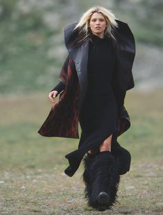 "Hana Jirickova in ""Highlands"" by Hans Feurer for Numéro, November 2014"