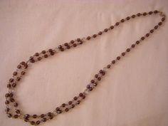 collana lunga con mezzo cristallo viola da 06 mm. fatta a mano, by crys_e_cri, 15,00 € su misshobby.com
