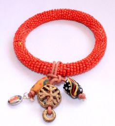 African beaded bracelet - African  Bohemian jewelry by DazzlingGypsyQueen on Etsy, €19.95