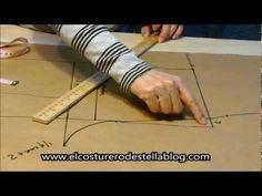 ▶ Trazo posterior del pantalon femenino-El costurero de Stella - YouTube