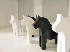 Dalapferd aus Schweden schwarz Dalarna