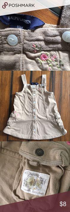Ralph Lauren 100% Cotton Tank Dress 18mo Soft texture, cute little girls dress. Ralph Lauren Dresses Casual