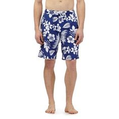 Maine New England Navy floral print swim shorts | Debenhams