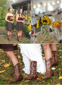 country wedding: Ha, to do this I need a set if fictional bridesmaids.. My friends will NOT do this...lol I still love them though!!