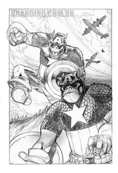 Capitão América - Apes - Art of Carlos Brandino - www.carlosbrandino.com