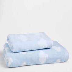 Serviette de Bain Bleue Nuages - Serviettes - Bain | Zara Home France