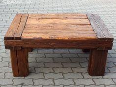 Konferenční stůl stolek staré trámy 2 - obrázek číslo 1