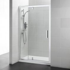 Ideal Standard Synergy Pivot Alcove Shower Door with In-Line Panel 1200mm - L6205EO