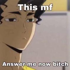 Really Funny Memes, Stupid Funny Memes, Funny Relatable Memes, Funny Reaction Pictures, Funny Pictures, Anime Meme Face, Hiro Big Hero 6, Response Memes, Haikyuu Funny