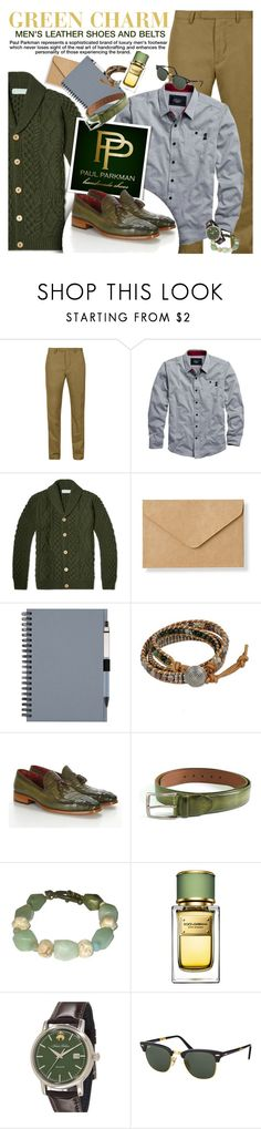 """PAUL PARKMAN - Green charm!"" by anita-n ❤ liked on Polyvore featuring M&S Collection, Muji, NOVICA, Dolce&Gabbana, Brooks Brothers, Ray-Ban, women's clothing, women's fashion, women and female"