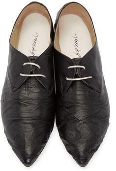 Marsèll - Black Leather Oxfords