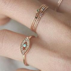 Rose Gold Stackable Rings S..