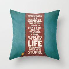 7. ALBERT EINSTEIN Throw Pillow by Zen Pencils - $20.00
