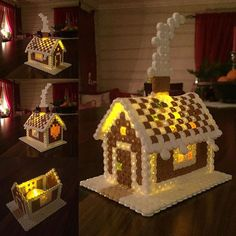 Christmas gingerbread house hama maxi beads by _anne_grete_