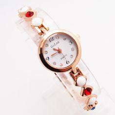 Top Qualidade Pulseira De Relógio de Luxo Mulheres Lady Crystal Fashion Vestido de Quartzo de Pulso GO118 em Pulseira Relógios das mulheres de Relógios no AliExpress.com   Alibaba Group