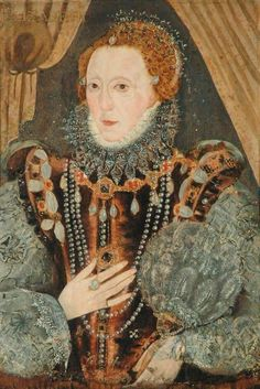 Portrait of Queen Elizabeth I by an unknown artist. Renaissance Portraits, Renaissance Clothing, Elizabeth I, Tudor Fashion, German Fashion, 16th Century Fashion, Elizabethan Era, Tudor Dynasty, Tudor Era