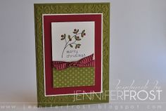 by Jennifer Frost ~ Easy Events ~ Stampin' Up!