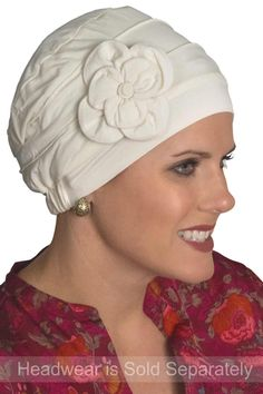 Cardani® Hand Made Flower Pin - Hat Accessory in Bamboo