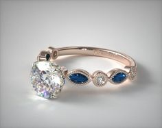 Diamond and Sapphire Engagement Ring from James Allen