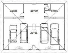 4 car garage - Google Search