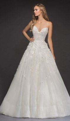 Courtesy of Hayley Paige Wedding Dresses from JLM Couture; Wedding dress idea. #weddinghairstyles