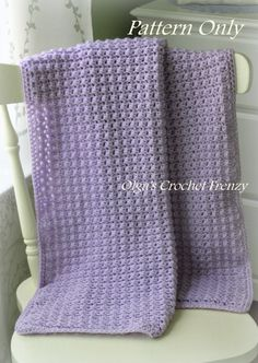 Crochet Baby Blanket Pattern Baby Afghan Easy to Make For