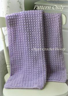 Crochet Baby Blanket Pattern, Easy to Make,