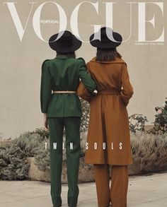 """""""Twin Souls"""" by Thomas Goldblum for Vogue PortugalYou can find Vogue magazine and more on our website.""""Twin Souls"""" by Thomas Goldblum for Vogue Portugal Vogue Vintage, Vintage Vogue Covers, Moda Vintage, Vintage Fashion, Vogue Editorial, Editorial Fashion, Men Editorial, Magazine Editorial, Foto Fashion"""