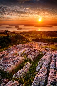 Cadillac Mountain, Acadia NP - in fall & winter, the first place to see sunrise in the US each morning.