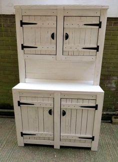 Wooden pallet kitchen cabinet unit