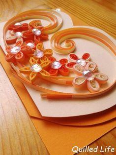 Quilled Life: Pomarańcze i brzoskwinie
