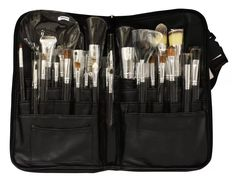 estuche de 32 brochas de maquillaje profesional pelo natural