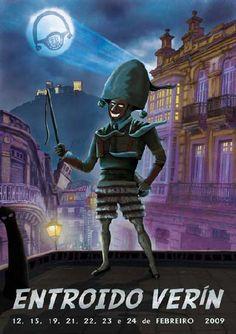 Cartel del Carnaval Verín Entroido 2009