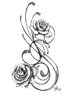 Rose Tattoo Designs For Girls Smaller Tribal Tattoo Designs Pretty Tattoos, Love Tattoos, Beautiful Tattoos, Body Art Tattoos, Tattoo Drawings, New Tattoos, Tatoos, Star Tattoos, Awesome Tattoos