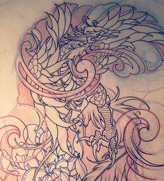 Amsterdam TATTOO 1825 KIMIHITO  Phoenix Japanese tattoo design