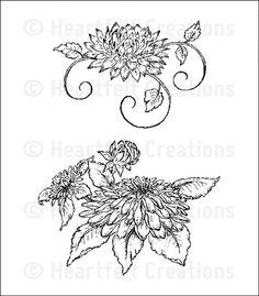 Heartfelt Creations | Dahlia Cluster PreCut Set $15.99
