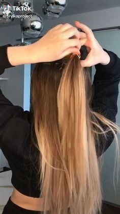 Hairdo For Long Hair, Bun Hairstyles For Long Hair, Style Long Hair, Long Straight Hairstyles, Simple Hairstyles, Medium Hair Styles, Curly Hair Styles, Hair Upstyles, Great Hair
