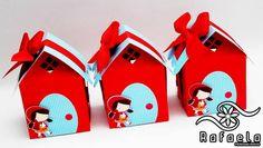 Casinha com detalhes em Scrap Chapeuzinho Vermelho.  Mudamos a cor da casinha e do telhado!  Feito em qualquer tema!  Peça já o seu! R$ 7,50