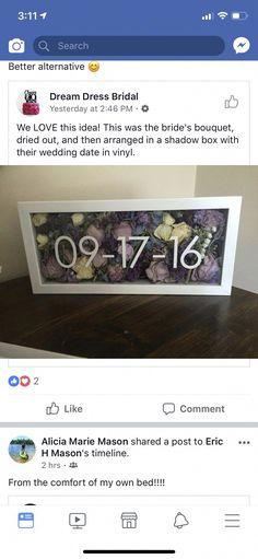 Like that this isn't a tacky wedding shadow box. Like that this isn't a tacky wedding shadow box. Cute Wedding Ideas, Wedding Goals, Wedding Tips, Perfect Wedding, Fall Wedding, Our Wedding, Dream Wedding, Tacky Wedding, Wedding Stuff