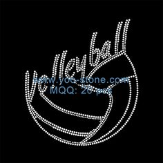VOLLEYBALL MOMS ROCK RHINESTONE IRON ON HEAT TRANSFER  FOR SHIRT