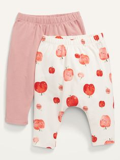 2-Pack U-Shaped Jersey Pants for Baby | Old Navy Baby Girl Pants, Pink Apple, Shop Old Navy, Pairs, Leaves, Color, Easy, Women, Style