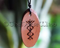 Viking Runes Protection Amulet for Success Prosperity Norse Pendant BindRunes Futhark Handmade Charm Talisman Wicca Pagan Pine Wood Anglo Saxon Runes, Norse Runes, Viking Runes, Celtic Runes, Rune Symbols, Viking Symbols, Wicca, Viking Signs, Viking Jewelry