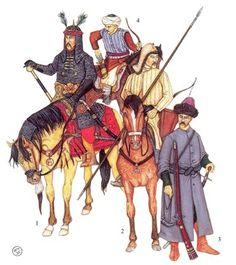 Crimean Tatar soldiers, 17th century