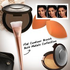 CONTOURING!! Always contour your face using Flat Contour Brush with BECCA Lowlight Sculpting Perfector to create shadows and highlights on targeted areas. Use BECCA Shadow & Light Bronze Contour Perfector if prefer a bronzing glow finish. #makeup #contour #mua #behindmybeauty