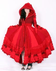 Red coat knitting