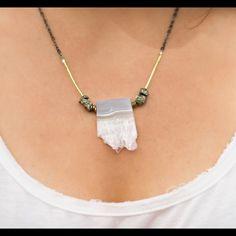 Druzy necklace Druzy stone necklace Anthropologie Jewelry Necklaces