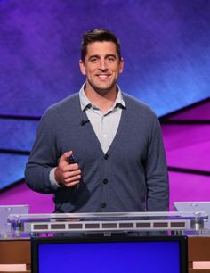 Aaron Rodgers wins on Celebrity Jeopardy! Rodgers appeared along with Shark Tank star Kevin O'Leary and retired astronaut Mark Kelly. The episode was taped in March and aired on May Photos by Jeopardy Productions, Inc. Packers Baby, Packers Football, Green Bay Packers, Alex Smith Nfl, Aaron Rogers, Clay Matthews, Go Pack Go, Football Conference, Fox Sports