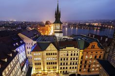 Czech Republic, Prague, Old town tower by Vltava River at sunset via @AOL_Lifestyle Read more: http://www.aol.com/article/news/2016/10/07/dramatic-footage-of-terrifying-airplane-landing-goes-viral/21576774/?a_dgi=aolshare_pinterest#fullscreen