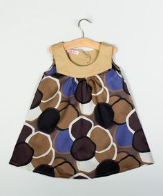 Look what I found on #zulily! Brown Circle Dress - Toddler & Girls by Puffy Pie #zulilyfinds
