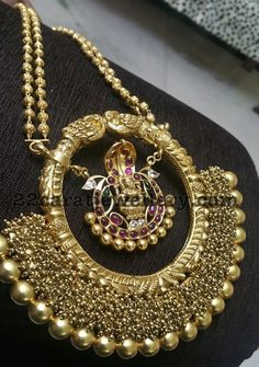 Silver Metal Lakshmi Necklace - Jewellery Designs
